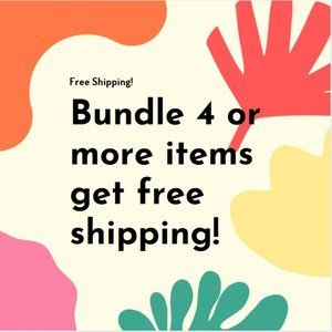 Free shipping for any bundle with 4+ items